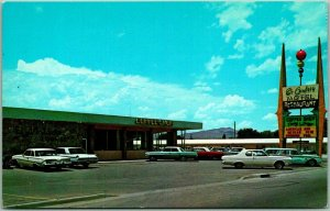 1960s Socorro, NM Postcard EL CAMINO MOTEL & Restaurant Chrome Roadside UNUSED