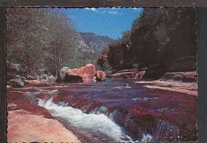Slide Rock Oak Creek Canyon AZ Postcard BIN