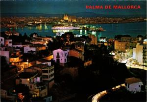 CPA Espagne-Mallorca-Palma de Mallorca-Vue générale la Nuit (323472)