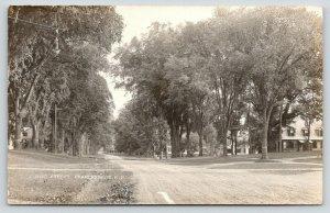 Charlestown New Hampshire~Main Street~Big Homes on Wide Dirt Road~1922 RPPC