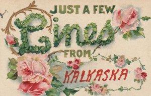 KALKASKA , Michigan, 191908 ; Greetings