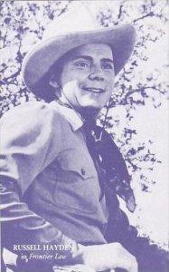 Cowboy Actor Russell Hayden Vintage Arcade Card