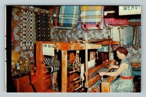 Minden NE- Nebraska, Loom Shop, Pioneer Village, Chrome Postcard