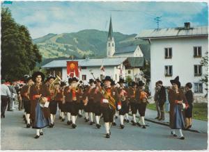 Kirchberg, Tirol, Austria, Dorfmusik, 1981 used Postcard