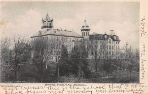 State Normal School, Whitewater, Wisconsin, Early Postcard, Used in 1907