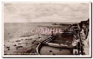 Old Postcard Great Britain Marina Bathing pool and Ramsgate Sands