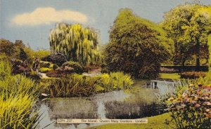 The Island Queen Mary Gardens London Vintage Postcard