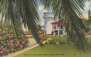 Florida Key West Scene In A Beautiful Garden