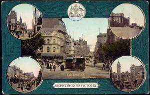 australia, MELBOURNE, Victoria, Collins Street, TRAM, Multiview (1910s)