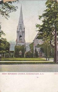 Exterior, First Reformed Church, Schenectady,  New York, PU-1909