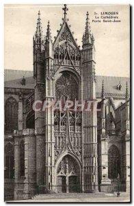 Limoges Old Postcard The Cathedral Porte Saint Jean