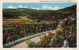 Mountainburg As Seen From U S Highway 71 Arkansas