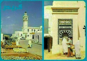 Tunisia Korbous Station Thermale Tower Street Market Postcard