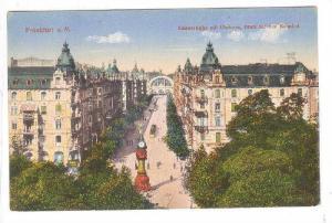 Kaiserstrasse Mit Uhrturm, Blick Auf Den Bahnhof, Frankfurt a. Main (Hesse), ...