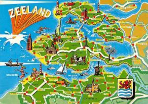 Netherlands Zeeland Map Beveland Goes Oostburg Tholen