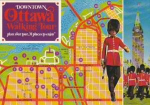 Canada Map Of Downtown Walking Tour Ottawa Ontario