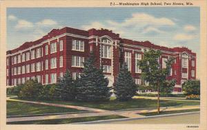 Wisconsin Two Rivers Washington High School 1951 Curteich