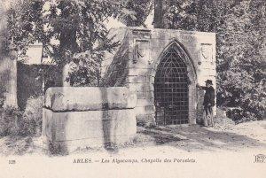 ARLES, Bouches-du-Rhone, France, 1900-1910s; Les Alyscamps, Chapelle Des Porc...