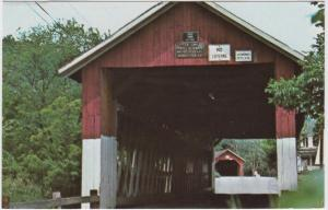 3447  VT North Field  Twins Covered Bridges