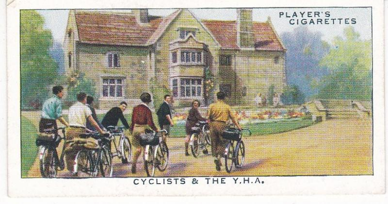 Cigarette Cards Players CYCLING No 41 Cyclists and the Y.H.A.