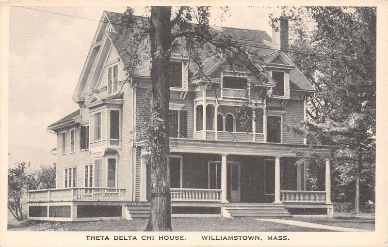 Williamstown Massachusetts~Theta Delta Chi Fraternity @ Williams College c1915