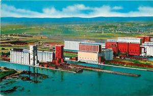 Port Arthur~Ft William Ontario~Grain Elevators at the Lakehead Aerial View~1950s