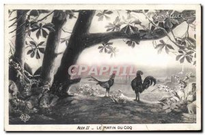 Old Postcard Theater Rostand Chantecler Coq Rooster Morning