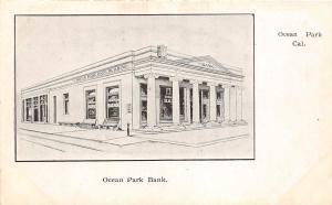 B88/ Ocean Park California Ca Postcard c1910 Ocean Park Bank Building