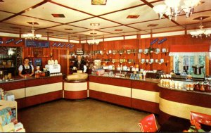 Ohio Orrville Alpine-Alpa Cheese Chalet Store Interior View 1955