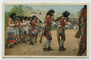 Hopi Native American Indian Snake Dance Arizona 1910s Fred Harvey postcard