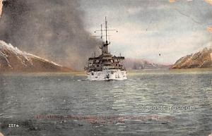 Military Battleship Postcard, Old Vintage Antique Military Ship Post Card The...