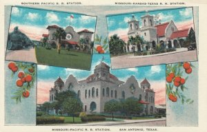 SAN ANTONIO, Texas, 10-20s; Three Railroad Depots