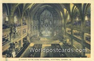 Notre Dame Cathedral Montreal Canada Unused