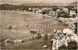 Modern Postcard The French Riviera Juan les Pins General view