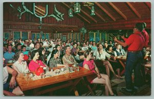 Gresham Wisconsin~Silver Spur Ranch~Musicians Play in Rustic Dining Hall~1950s