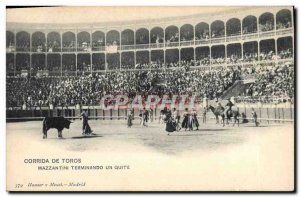 Old Postcard Bullfight Bullfight Mazzantini quite a terminando