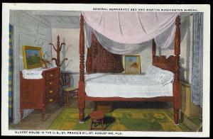 Washington Bureau-Hernandez Bed St Augustine FL unused c1915