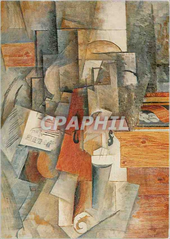 Modern Postcard The Picasso violin