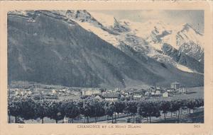 France Chamonix et le Mont Blanc 1928