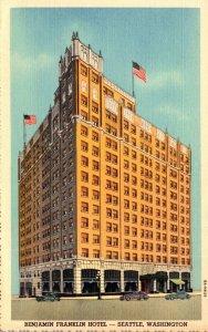 Washington Seattle Benjamin Franklin Hotel Curteich