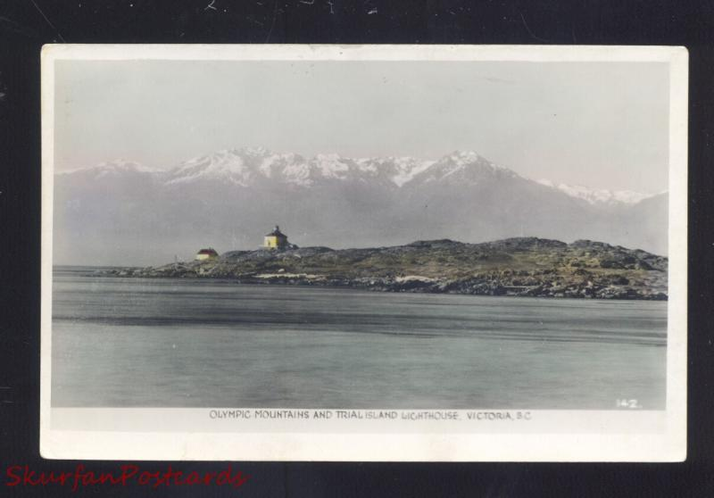 RPPC VICTORIA BRITISH COLUMBIA TRIAL ISLAND LIGHTHOUSE REAL