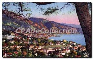 Old Postcard Menton Vue Prize Du Cap Martin