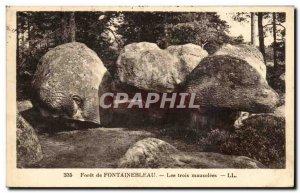 Old Postcard La Foret Fontainbleau Three mausoleums