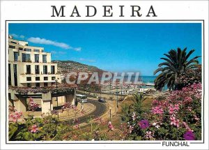 Modern Postcard Funchal Madeira In the center of the marine view Santa Catari...