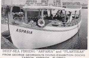 Florida Tarpon Springs Deep Sea Fishing Boats Aspasia and Plastiras