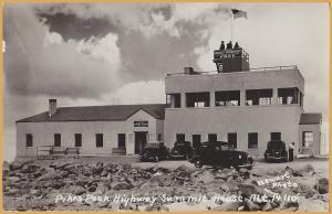 RPPC-Pikes Peak, Colo., Highway Summit House, Alt 14,110 - 1940's  Autos - 1949