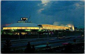 1964 NEW YORK WORLD'S FAIR Expo Postcard GENERAL MOTORS PAVILION Night View