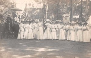 Weaverville California Suffragette Parade Protest Scene Real Photo PC AA5356