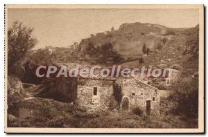 Old Postcard Views of Les Baux Fountain valley