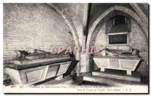 Old Postcard Eu Tombs from Saint Laurent d & # 39Eu and Charles d & # 39Artoi...